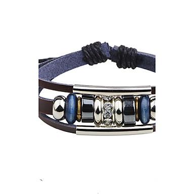 בגדי ריקוד גברים צמידי Strand צמידי עור - עור צמידים תכשיטים שחור / חום עבור יומי קזו'אל