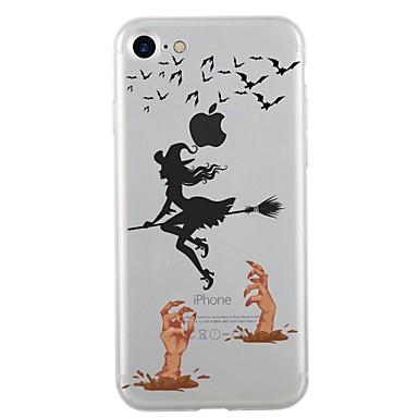Maska Pentru Apple iPhone 7 Plus iPhone 7 Transparent Model Capac Spate Halloween Moale TPU pentru iPhone 7 Plus iPhone 7 iPhone 6s Plus