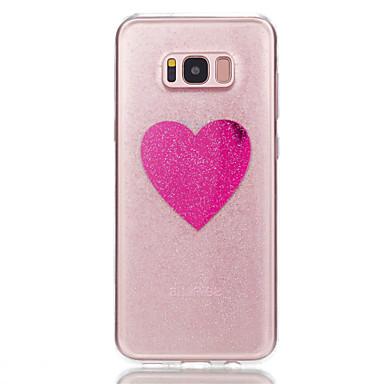 Maska Pentru Samsung Galaxy S8 Plus S8 Transparent Model Carcasă Spate Inimă Luciu Strălucire Moale TPU pentru S8 S8 Plus S7 edge S7
