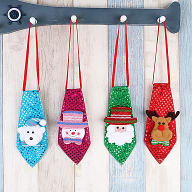4pc decoratiuni de Craciun copii adulti decoratiuni scolare cadouri mici cadouri creatoare mici cravata cravata luminoasa