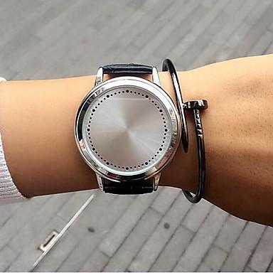 Bărbați Pentru femei Unic Creative ceas Ceas La Modă Quartz cald Vânzare Piele Bandă Casual Negru