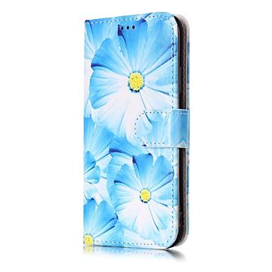 Pentru iPhone X iPhone 8 iPhone 8 Plus Carcase Huse Portofel Titluar Card Cu Stand Întoarce Model Corp Plin Maska Floare Greu PU Piele