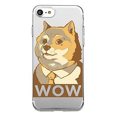 voordelige iPhone 5 hoesjes-hoesje Voor iPhone 7 / iPhone 7 Plus / iPhone 6s Plus iPhone SE / 5s Transparant / Patroon Achterkant Hond / dier / Cartoon Zacht TPU