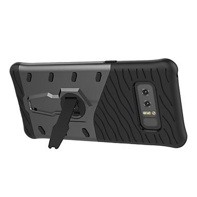 Maska Pentru Samsung Galaxy Note 8 Note 5 Cu Stand Rotație 360 ° Capac Spate Culoare solidă Greu PC pentru Note 8 Note 5