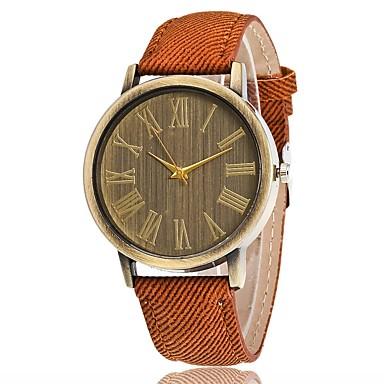 Bărbați Pentru femei Unic Creative ceas Ceas Elegant  Ceas La Modă Chineză Quartz Material Bandă Charm Lux Casual Elegant Negru Alb