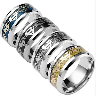 Bărbați Altele Band Ring - Modă Negru / Argintiu / Albastru Închis Inel Pentru Zilnic