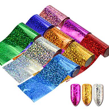 9pcs/set Наклейки и ленты / Наклейка для ногтей / Наклейка для фольги Шаблон шаблона для ногтей Дизайн ногтей Роскошное сияние /