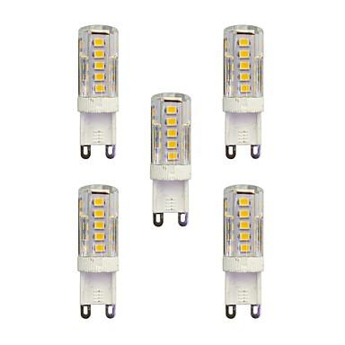5pcs 2.5W 210 lm G9 LED à Double Broches T 33 diodes électroluminescentes SMD 2835 Blanc Chaud Blanc AC 220-240V