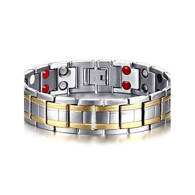 voordelige Fijne Sieraden-Heren Armbanden met ketting en sluiting Bangles Tweekleurig Natuur Modieus Equilibrio Titanium Staal Armband sieraden Zilver Voor Lahja Dagelijks