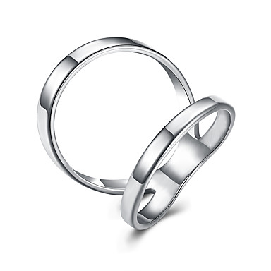 Pentru femei Geometric Inel - Oțel titan, Argilă, Placat Auriu Personalizat, Modă, Cute Stil 6 / 7 / 8 Argintiu / Auriu / Roz auriu Pentru Petrecere / Cadou / Casual
