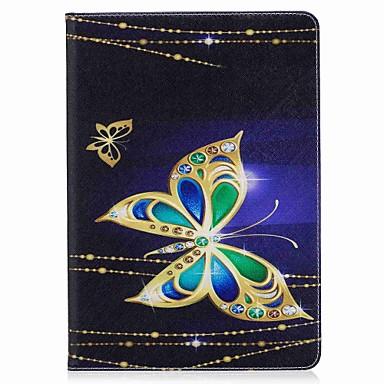 Pentru iPad 10.5 Carcase Huse Titluar Card Portofel Cu Stand Întoarce Model Magnetic Corp Plin Maska Fluture Greu PU Piele pentru Apple