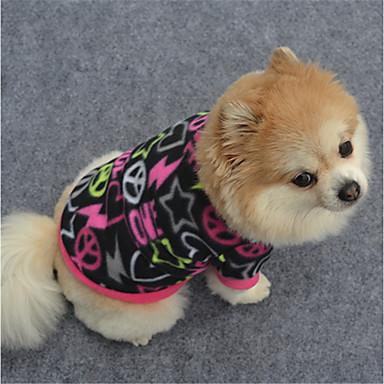 Hond Sweatshirt Hondenkleding Meetkundig Zwart / Paars / Fuchsia Fleece Kostuum Voor huisdieren Casual / Dagelijks