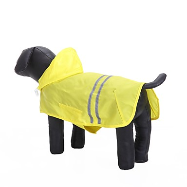 cheap Dog Clothing & Accessories-Cat Dog Hoodie Rain Coat Dog Clothes Solid Colored Yellow Fuchsia Blue Oxford cloth Terylene Waterproof Material Costume For Spring &  Fall Summer Casual / Daily Waterproof Sports
