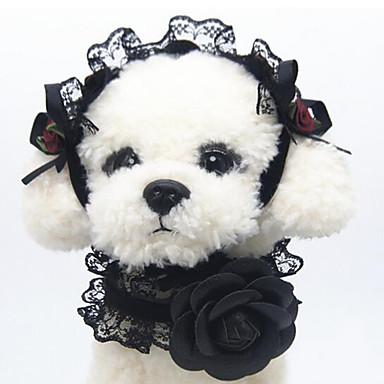Pisici / Câine Gulere Portabil / Respirabil / Siguranță Mată Dantelă / Material Textil