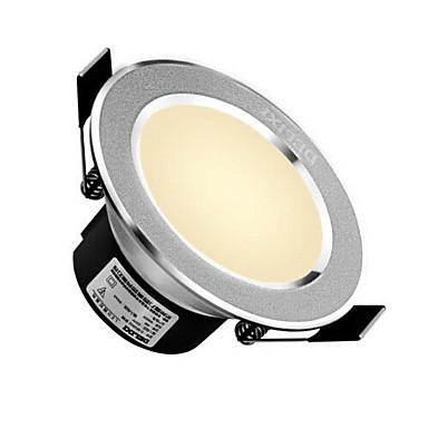 delixi® 1pc 5w lumină de iluminat de jos lumină lumină caldă alb / alb cald alb gaură ac220v 90mm 300lm 3000 / 6000k unghi de fascicul 120