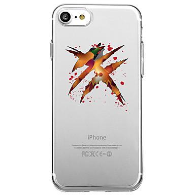 voordelige iPhone X hoesjes-hoesje Voor Apple iPhone X / iPhone 8 Plus / iPhone 8 Transparant / Patroon Achterkant Cartoon / Halloween Zacht TPU