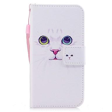 Pentru iPhone X Carcase Huse Portofel Titluar Card Cu Stand Întoarce Model Magnetic Corp Plin Maska Pisica Greu PU Piele pentru Apple