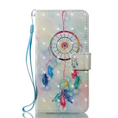 Maska Pentru Apple iPhone X iPhone X iPhone 8 iPhone 8 Plus Titluar Card Portofel Cu Stand Întoarce Carcasă Telefon Prinzător de vise Greu