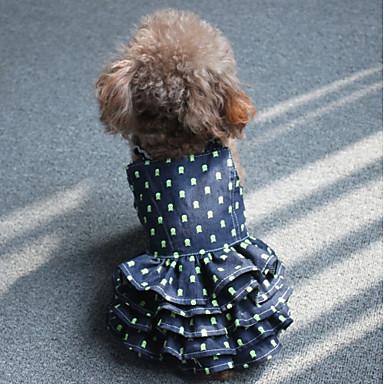 Câine Rochii Îmbrăcăminte Câini Casul/Zilnic Buline Albastru