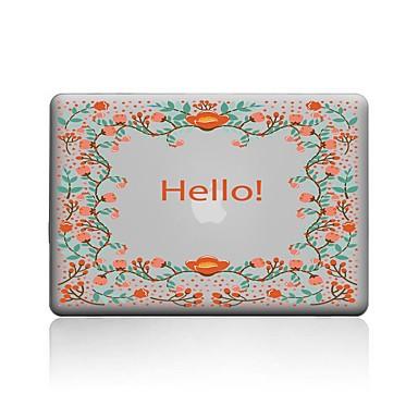 MacBook Carcase pentru Cuvânt / expresie Transparent Floare PVC Noul MacBook Pro 15