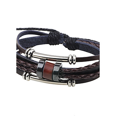 Men's Leather Bracelet - Leather Fashion Bracelet Coffee For Casual / Going out