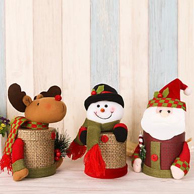 2pcs / lot incaltaminte frumos in cutie de cadou Crăciun bomboane caseta Santa Claus cerb de zăpadă Crăciun cadou caseta Crăciun