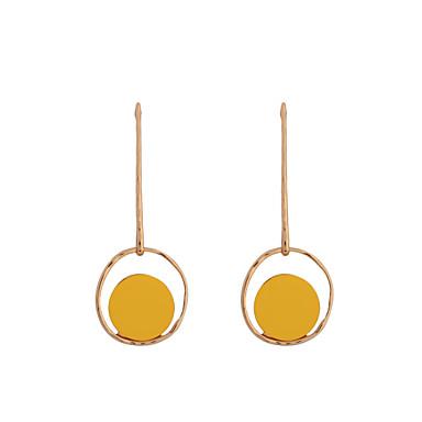 Pentru femei Cercei Rotunzi  Γεωμετρικά Modă Placat Auriu Aliaj Round Shape Bijuterii Pentru Zilnic Casual
