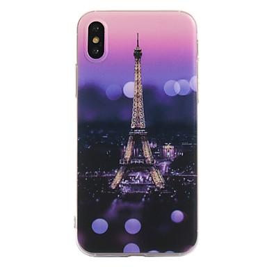 Pentru iPhone X iPhone 8 Carcase Huse Model Carcasă Spate Maska Turnul Eiffel Moale TPU pentru Apple iPhone X iPhone 8  Plus iPhone 8