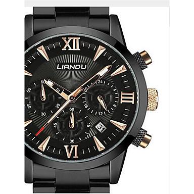 Bărbați Ceas Militar  / Ceas de Mână Chineză Calendar / Rezistent la Apă / Creative Oțel inoxidabil Bandă Lux / Casual / Modă Negru /