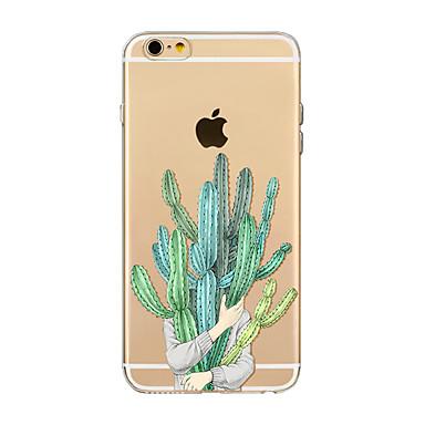 voordelige iPhone 5c hoesjes-hoesje Voor Apple iPhone X / iPhone 8 Plus / iPhone 8 Transparant / Patroon Achterkant Boom Zacht TPU