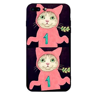 Maska Pentru Apple iPhone 7 Plus iPhone 7 Anti Șoc Model Capac Spate Pisica Desene Animate Animal Moale Silicon pentru iPhone 7 Plus