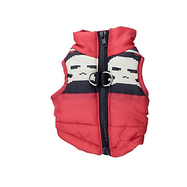 cheap Dog Clothing & Accessories-Dog Vest Dog Clothes Skull Red Terylene Costume For Spring &  Fall Winter Casual / Daily