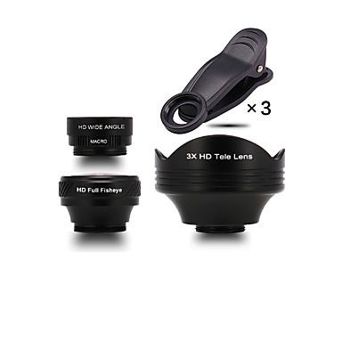 wosidun lentilă pentru telefoane mobile 180 lentilă pentru ochi pește 3x lentilă focală lungă 105 obiectiv cu unghi larg 15x macro lentilă