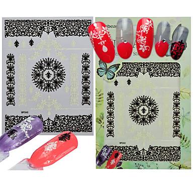 1 Nail Art autocolant Consumabile DIY Autocolant 3-D Dantelă machiaj cosmetice Nail Art Design