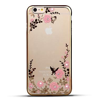 Pentru iPhone 6 iPhone 6 Plus Carcase Huse Stras Placare Ultra subțire Model Carcasă Spate Maska Floare Moale TPU pentru Apple iPhone 6s