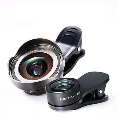 cherllo lentilă pentru telefoane mobile cu lentile de pește-ochi 120 4k hd cu unghi larg de lentilă obiectiv macro aluminiu aliaj de