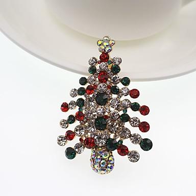 Bărbați Pentru femei Broșe imitație de diamant La modă Clasic Aliaj Geometric Shape Bijuterii Pentru Petrecere Crăciun