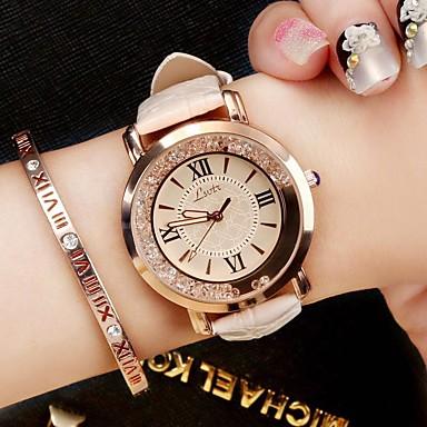 preiswerte Damen Uhren-Damen damas Uhr Armbanduhr Quartz Gestepptes PU - Kunstleder Schwarz / Weiß / Blau Analog Luxus Glanz Retro Freizeit Modisch Rot Blau Rosa / Ein Jahr / Ein Jahr / SSUO 377