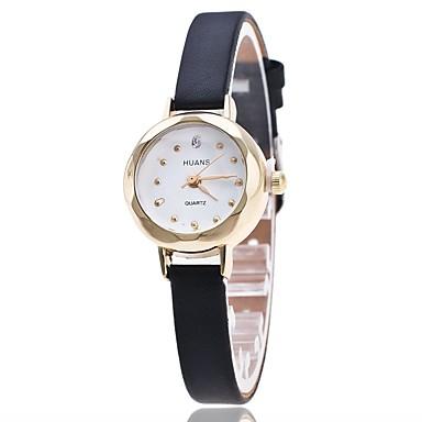 Pentru femei Simulat Diamant Ceas Ceas de Mână Ceas Elegant  Chineză Quartz imitație de diamant PU Bandă Charm Casual Elegant Negru Alb