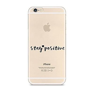 Pentru iPhone 7 iPhone 7 Plus Carcase Huse Ultra subțire Transparent Model Carcasă Spate Maska Cuvânt / expresie Moale TPU pentru Apple