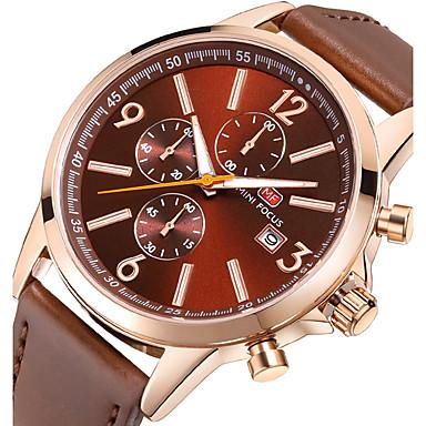 Bărbați Quartz Ceas de Mână Ceas Sport Japoneză Cronograf Cronometru Piele Autentică Bandă Charm Lux Creative Casual Unic Watch Creative