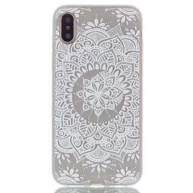 Maska Pentru Apple iPhone X iPhone X iPhone 8 iPhone 8 Plus Ultra subțire Transparent Model Capac Spate Mandala dantelă de imprimare Moale
