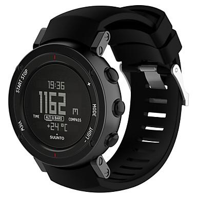 voordelige Smartwatch-accessoires-Horlogeband voor SUUNTO CORE ALU Black Suunto Sportband Silicone Polsband