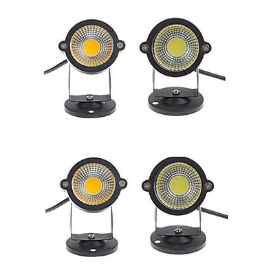 4 buc 5 W Lumini de gazon Rezistent la apă / Decorativ Alb Cald / Alb Rece 12 V / 85-265 V Lumina Exterior / Curte / Grădină 1 LED-uri de margele
