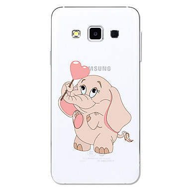 voordelige Galaxy A-serie hoesjes / covers-hoesje Voor Samsung Galaxy A3 (2017) / A5 (2017) / A5(2016) Transparant / Patroon Achterkant Cartoon / Olifant Zacht TPU