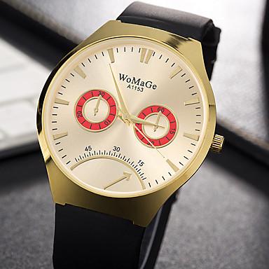 Bărbați Unic Creative ceas Ceas Casual Ceas La Modă Ceas de Mână Quartz Silicon Bandă Charm Lux Creative Casual Elegant Cool Negru