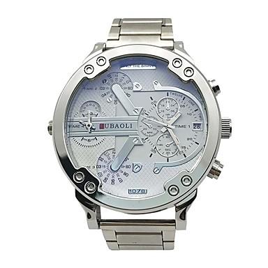 Χαμηλού Κόστους Ανδρικά ρολόγια-JUBAOLI Ανδρικά Αθλητικό Ρολόι Χαλαζίας Μέταλλο Χρυσό 30 m Ημερολόγιο Διπλές Ζώνες Ώρας Μεγάλο καντράν Αναλογικό Φυλαχτό Μοντέρνα Μοναδικό Watch Creative - Λευκό Μαύρο Μπλε Απαλό