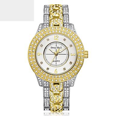 Недорогие Часы на металлическом ремешке-Жен. Наручные часы Diamond Watch золотые часы Кварцевый Нержавеющая сталь Серебристый металл / Золотистый Повседневные часы Аналоговый Дамы Элегантный стиль -