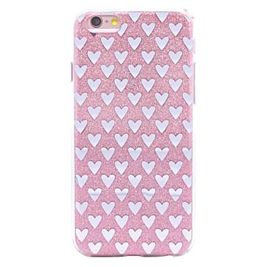 Capinha Para Apple iPhone X iPhone 8 Estampada Capa traseira Coração Glitter Brilhante Macia TPU para iPhone X iPhone 8 Plus iPhone 8