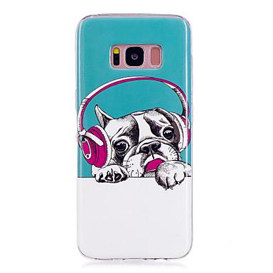 Недорогие Чехлы и кейсы для Galaxy S6-Кейс для Назначение SSamsung Galaxy S8 Plus / S8 / S7 edge Сияние в темноте / IMD / С узором Кейс на заднюю панель С собакой Мягкий ТПУ